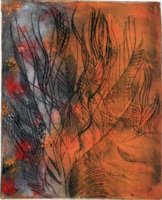 Dryoint monoprint by Samjhana