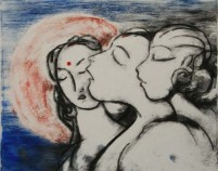 Drypoint monoprint by Sandeep