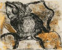 Drypoint monoprint by Sanjeet