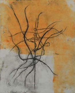 Drypoint monoprint by Sarita